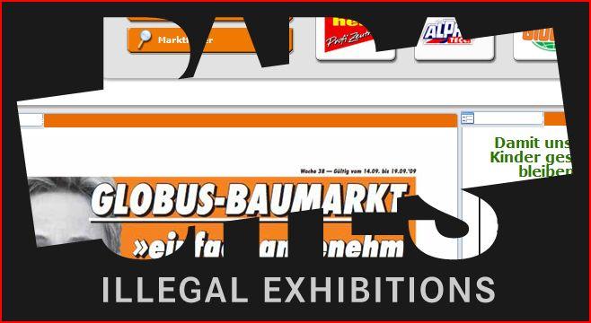 ENCASTRABLE 4 PARASITES illegal exhibitions
