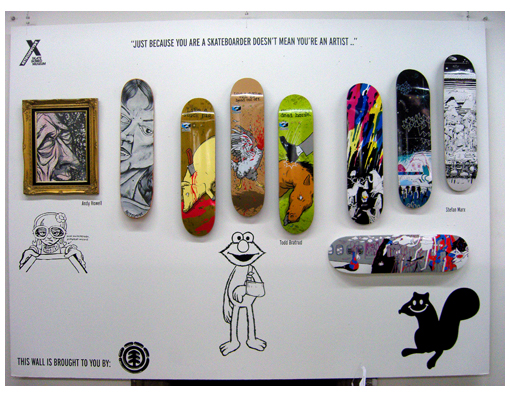 Skateboards designed by Stefan Marx, Todd Bratrud & Andy Howell