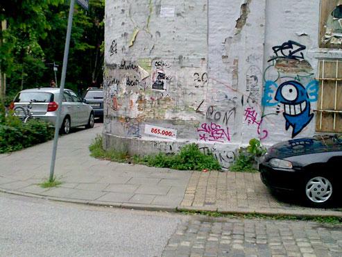 "Guerilla makeln in Hamburgs ""Z""ene Vierteln"