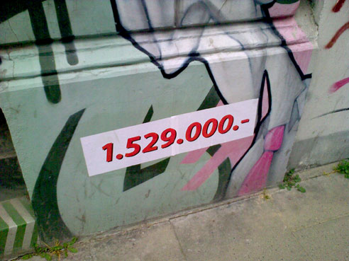 """Graffiti soll ja """"in"""" sein, hier für nur 1.529.000 €"""