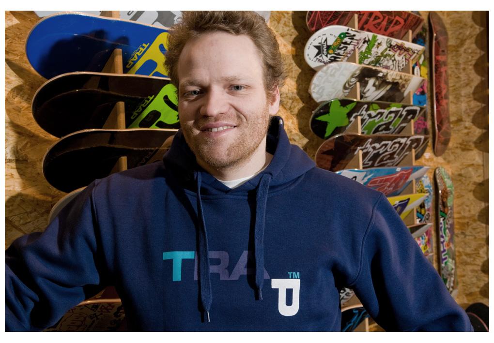 Richie Löffler, Skate-Koryphäe, Macher von TRAP Skateboards und Inhaber des Mantis Lifestores