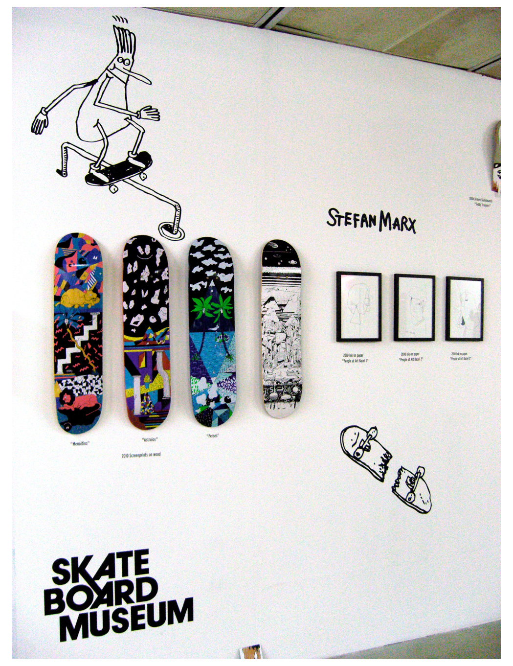 Board Design by Stefan Marx aus dem Frankfurter Skateboardmuseum