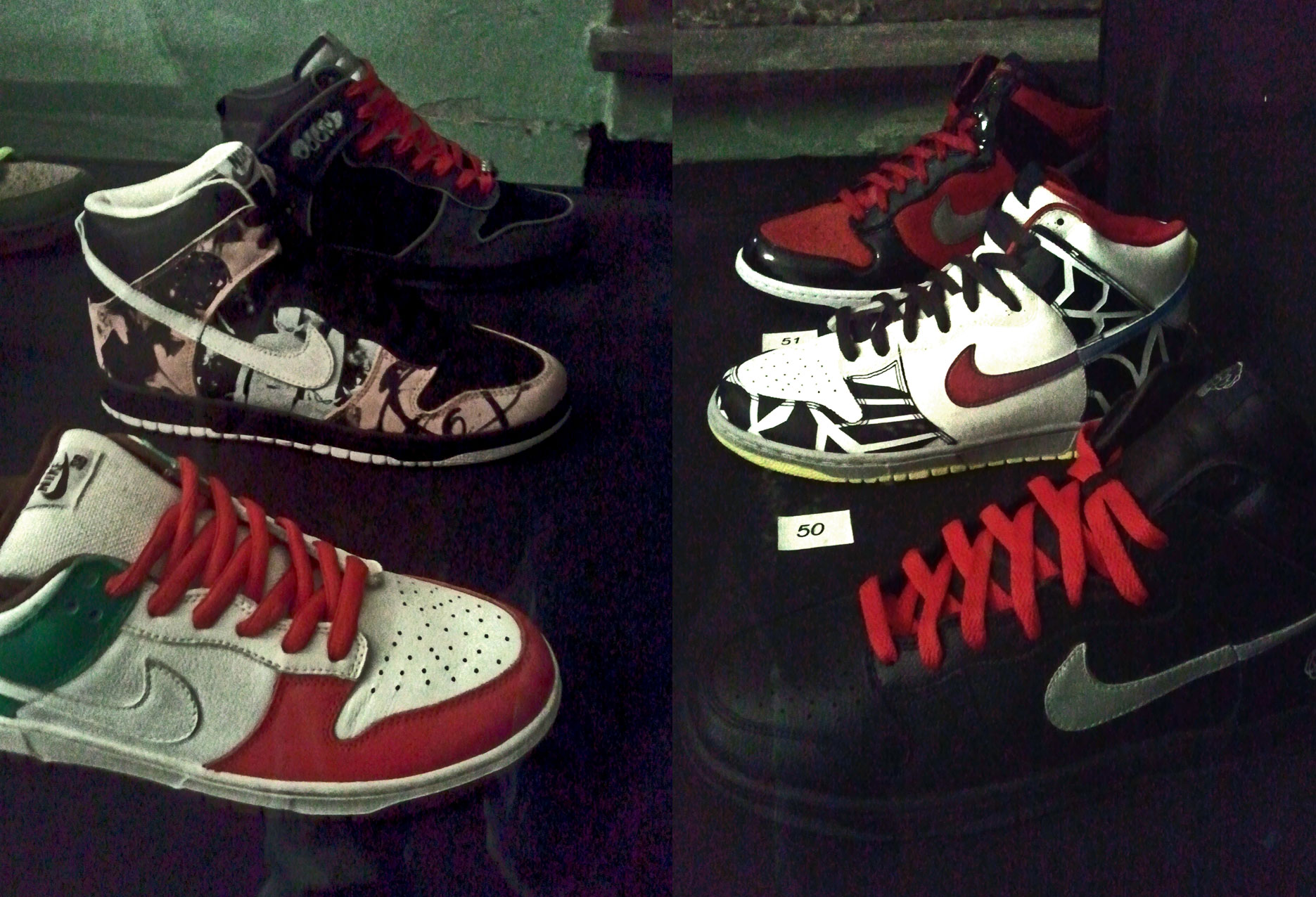 Dunk Low Pro SB Cinco de mayo, Dunk High Pro SB DUNKLE, Dunk High Pro SB MF Doom, other 3: untitled