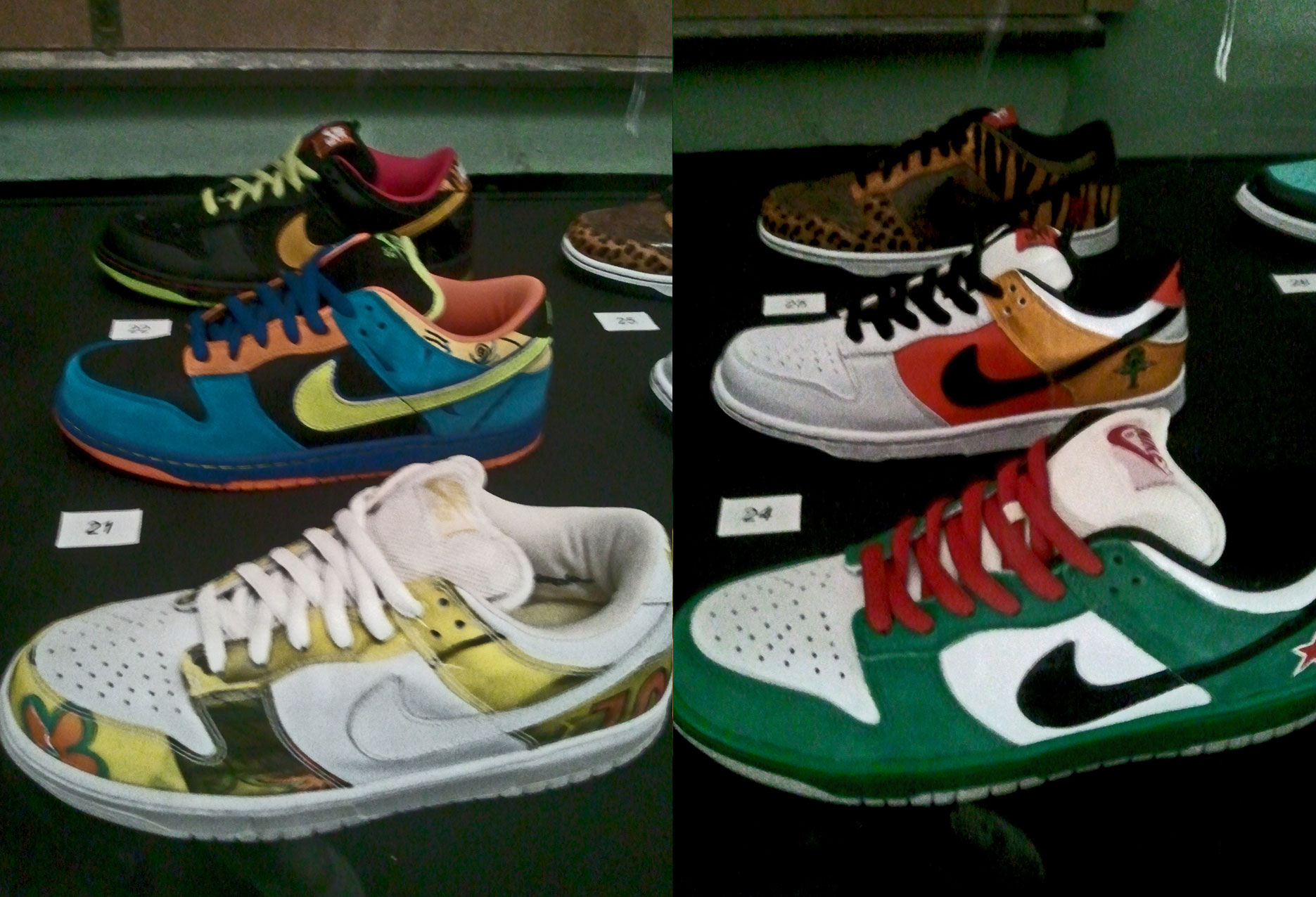 Dunk Low Pro SB De La Soul, Dunk Low Pro SB Skate or Die, Dunk Low SB Space Tiger, Dunk Low Pro SB Heineken, Dunk Low Pro SB Raygun, Dunk Low Animal Edition Safari