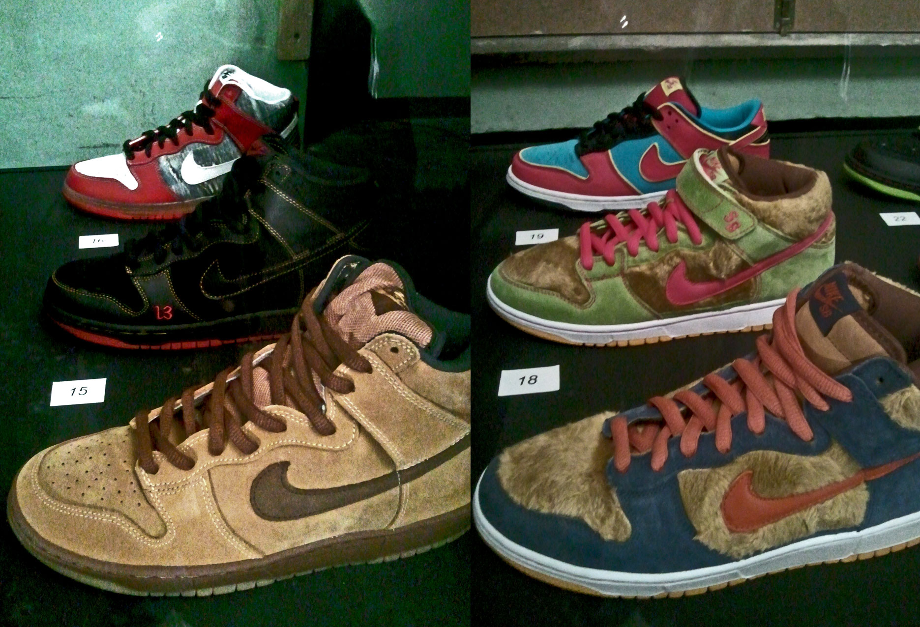 Dunk High Pro SB Maple Bison, Dunk High Pro SB Unlucky, Dunk High Pro SB Shoe Goo, Dunk Pro SB Papa Bear, Dunk Pro SB Mama Bear, Dunk Low Pro SB Mrs. Pacman