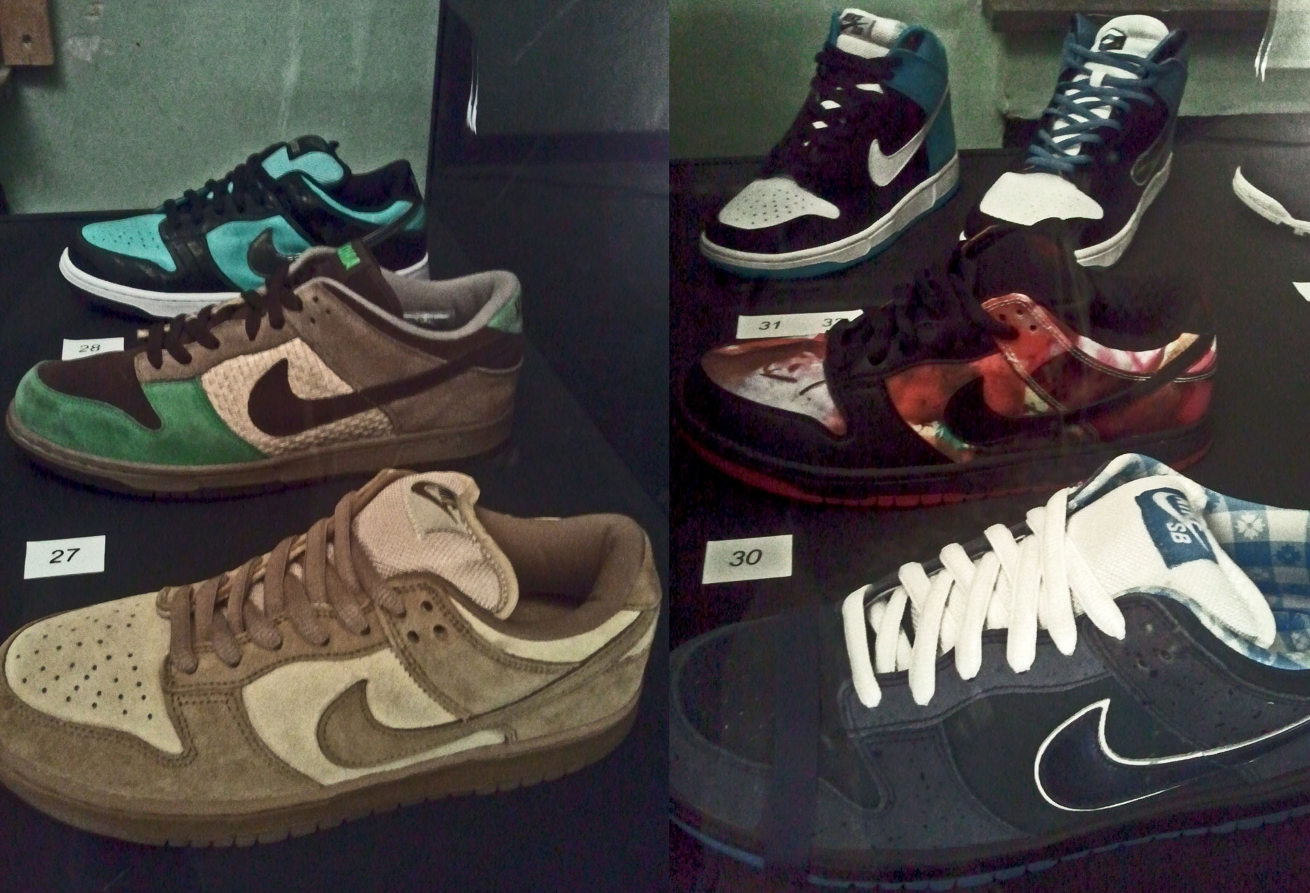 Dunk Low Pro SB Reese Forbes, Dunk Low Kicks Hawaii Aloha, Dunk Low Pro SB Tiffany, Dunk Low Pro SB Blue Lobster, Dunk Low Pro SB Pushead, Dunk High Pro SB Send Help