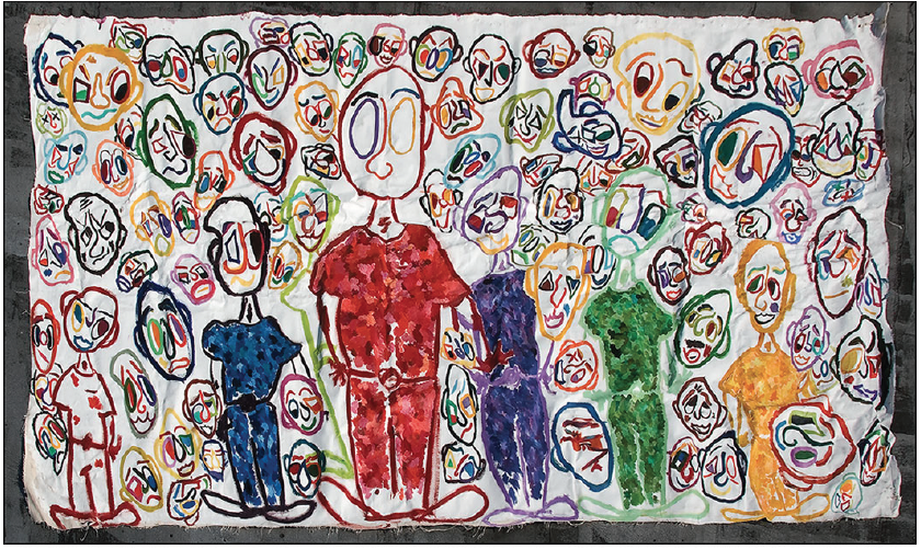 BIG STUDY (4) | 2007 | OIL ON CANVAS | 350 x 200 cm | 138 x 79 inch by Moritz Hoffmann