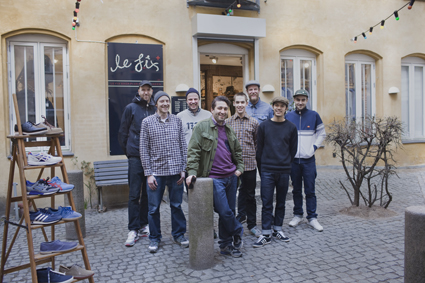 Le Fix Crew in front of the store at Kronprinsengaarde